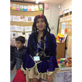 Mrs Williams looked the part!