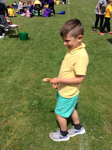 I loved the egg and spoon race!