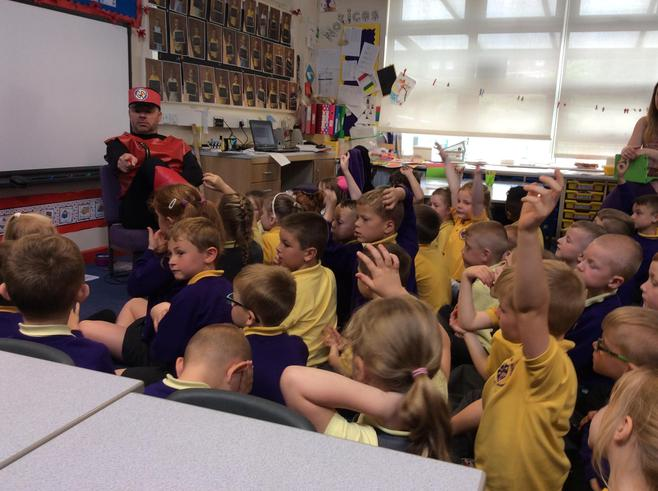 The children asked lots of questions