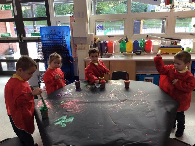 Using the paint to make some 'magic' pictures!
