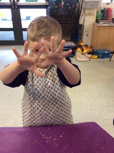 Sticky hands!