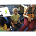 We have been learning how to hold our Ukuleles