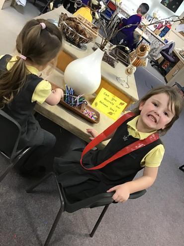 One happy little learner!