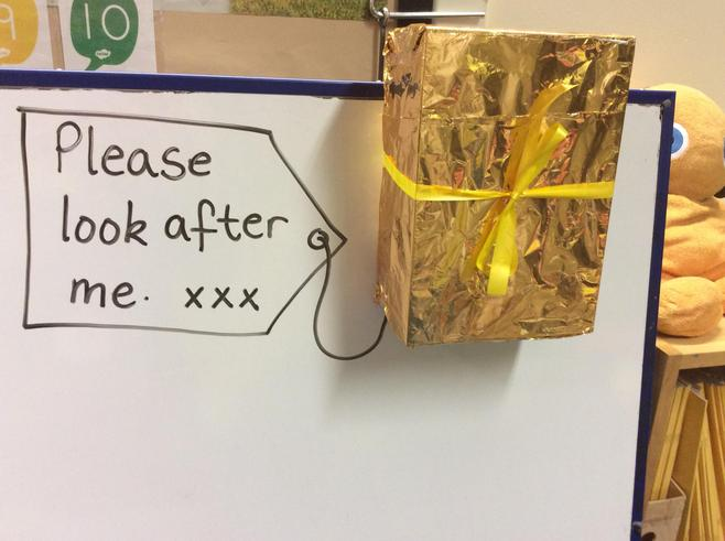 A parcel arrived in Nursery!