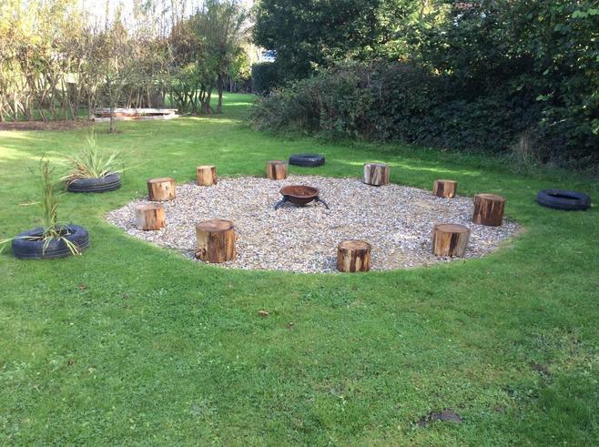 Our fantastic fire pit circle