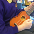 We can perform Ho Hey on our Ukuleles!