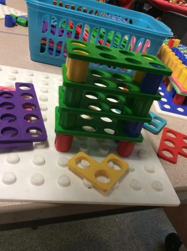Building Newcastle bridges with numicon tiles.