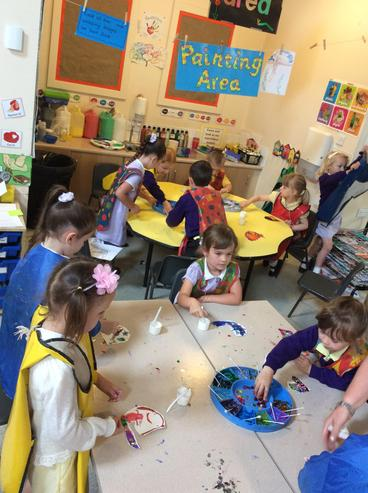 Beautiful art creations in the making!