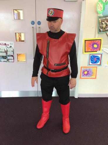 Captain Scarlet, (1960s TV character) paid a visit