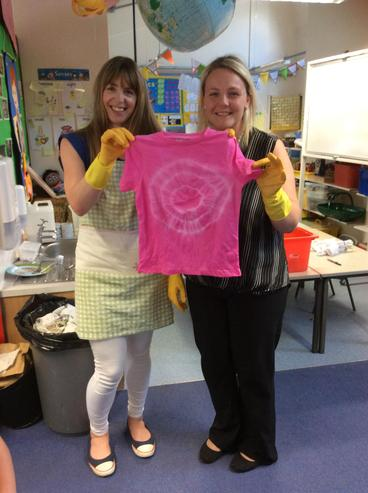 Our tie dye T.shirts have worked! :D