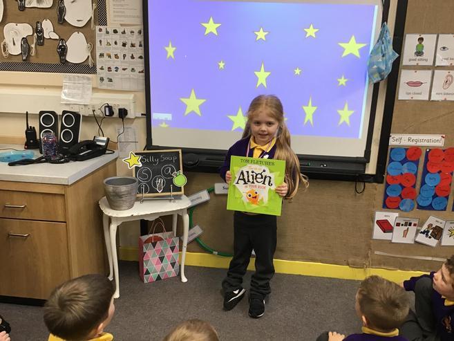 Class 1's super reader!