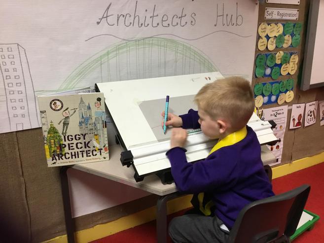 A budding architect in the making...
