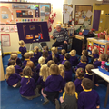 Mr Taylor visited Nursery to share a special story