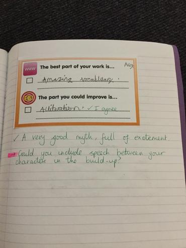 Children have assessed their friend's work