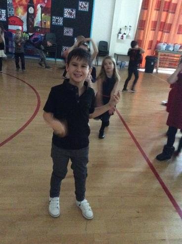 The children certainly brought their dancing shoes
