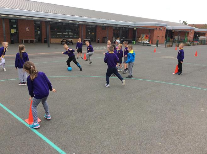 We had so much fun practising our ball skills...