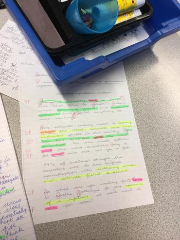 Editing and marking is colourful business!