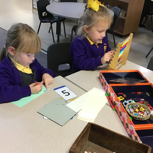 Our maths mastery explorers hard at play!