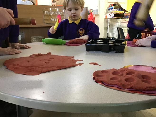 Our chocolate scented play-dough has been popular!