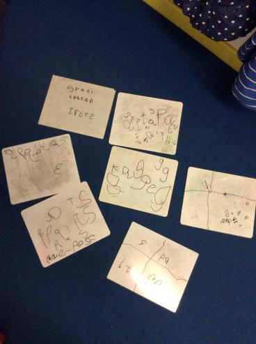 We have also been practising our names