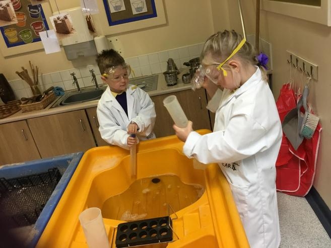 Science chemical potions were in full flow