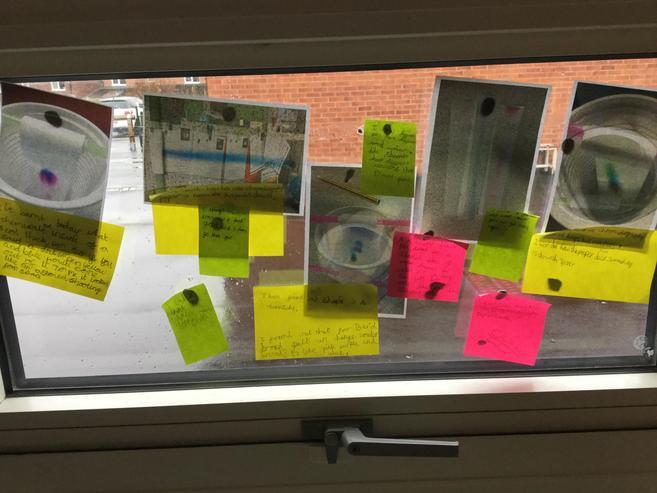 Our crime scene wall (window)