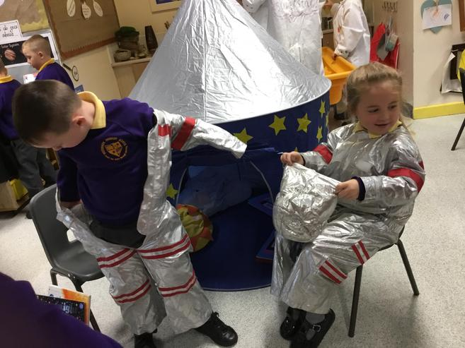 All ready to go up to space!