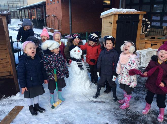 Super team work building this fab snowman