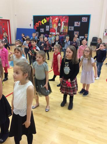 The children took Musical Statues very serious.