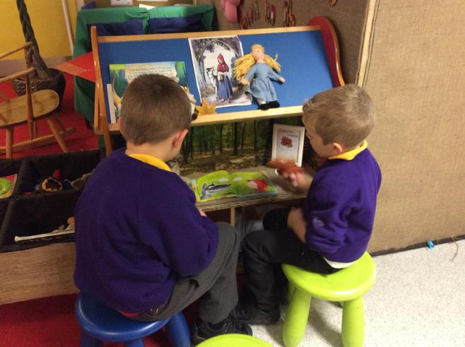 Re-telling stories on our story shelves.