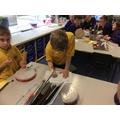 We composed rhythms for our polyrhythm performance