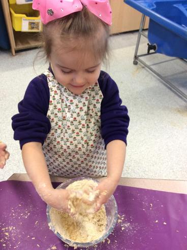 Valentines baking - making the dough