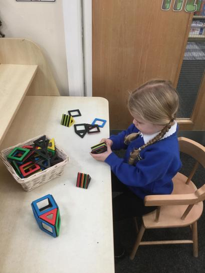 We used the magnetix to create shapes