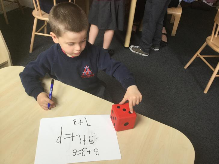 Independent work in the maths area