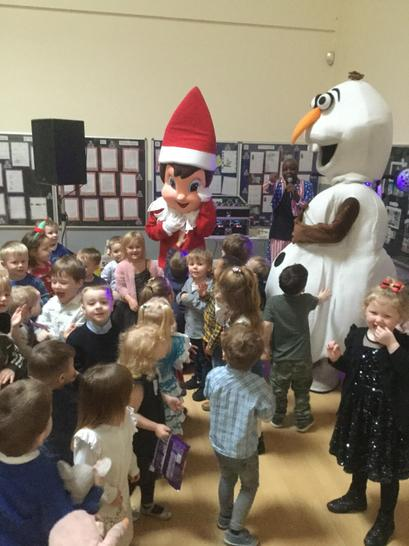 We played musical bumps with Chippy and Olaf