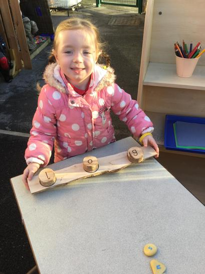 Making words with our mini logs