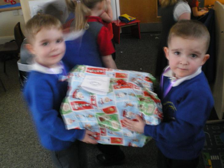 Brodie and George the super elves!