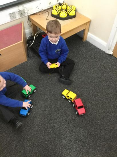 Practising controlling the cars together