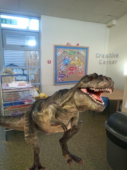 A T-Rex in the creative corner