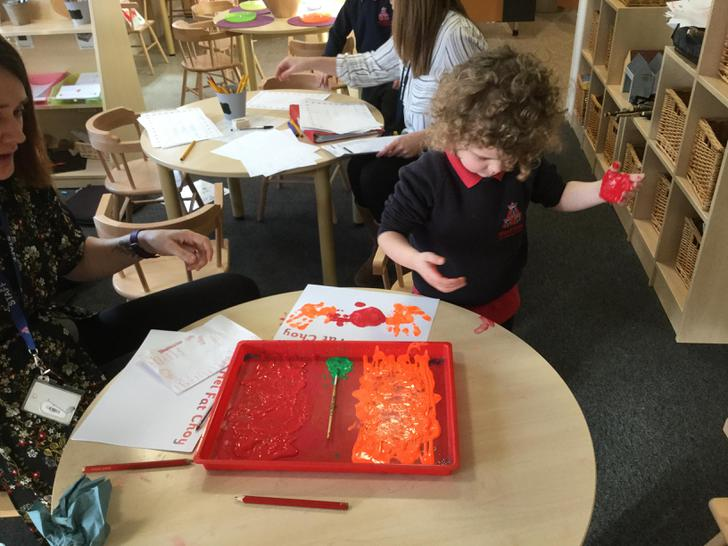Making our Chinese New Year cards