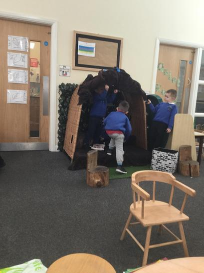 The boys made a den and a set of rules