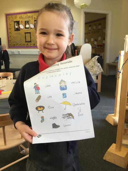 Identifying initial sounds in words