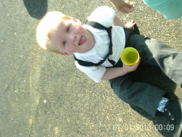 Enjoying a drink in the sunshine