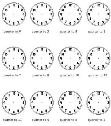 Quarter to (C) Twinkl