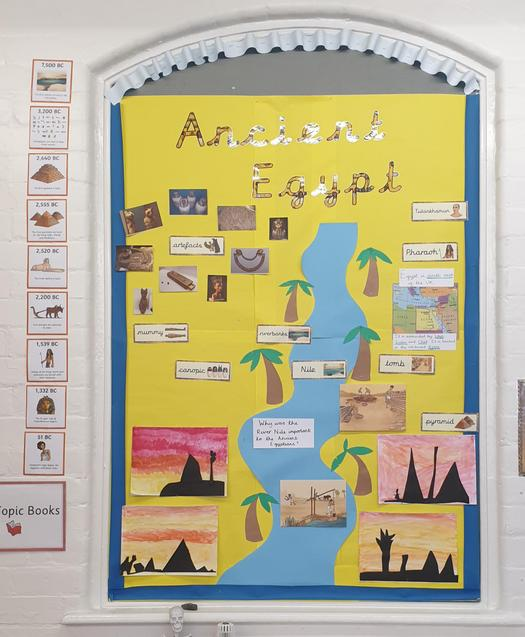 Year 3 Ancient Egypt Display