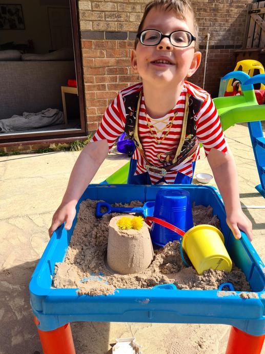 Enjoying sand play