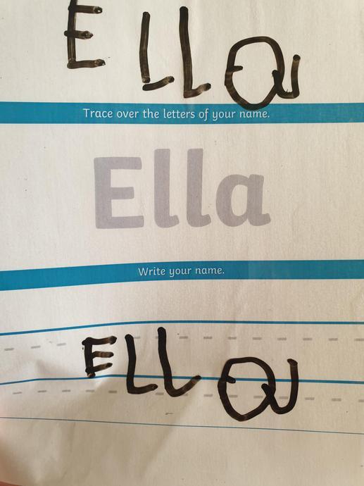 Beautiful name writing!