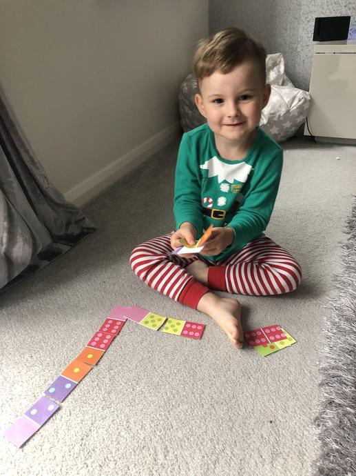 Playing with dominoes!