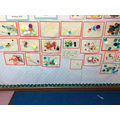 The children created some colourful collages