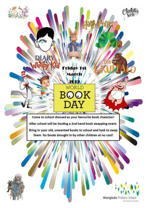 World Book Day 2019 - Friday 1st March 2019